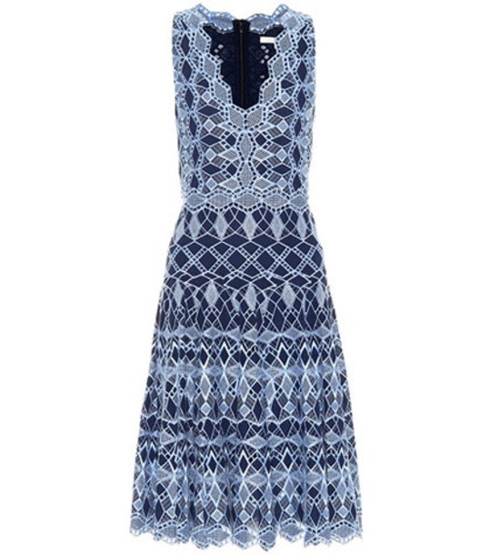 Jonathan Simkhai Cotton lace dress in blue