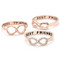 Girlsluv.it - best friends infinity ring in pinkgold
