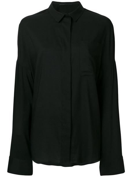Haider Ackermann shirt women cotton black silk top