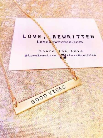 jewels necklace good vibes sweater good vibes positive vibes
