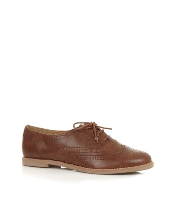 Brown lace up brogues