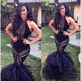 dress kelly rowland black mesh mermaid mermaid/trumpet black mermaid dress
