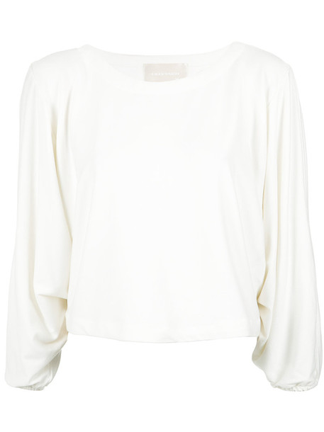 Lilly Sarti - long sleeves blouse - women - Viscose/Spandex/Elastane - 36, White, Viscose/Spandex/Elastane