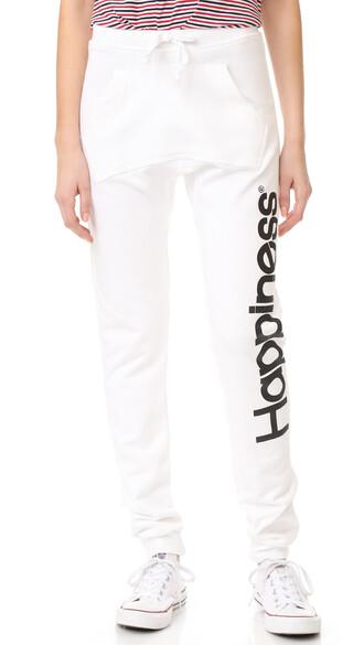 sweatpants white pants