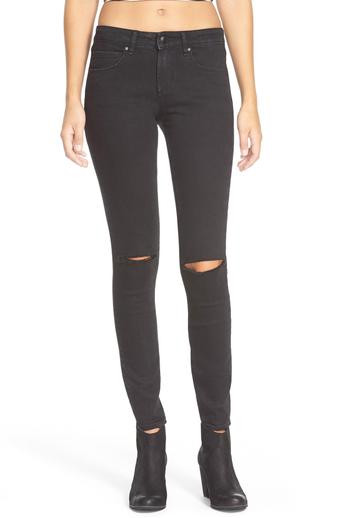 9d6b485065 Articles of Society  Sarah  Distressed Skinny Jeans (Black Cat ...