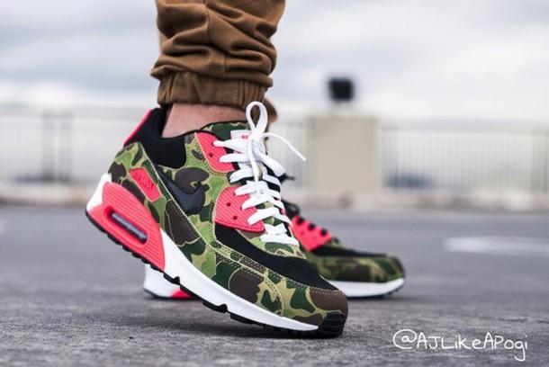 20e8fef8830c camouflage shoes nike nike air max 90 air max green infrared camouflage  shoes running shoes mens