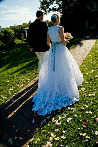 dress blue wedding dress