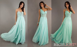 Mint Beaded Evening Pageant Party Cocktail Prom Dress Ball Gown Sz 6 8 10 12 14   eBay