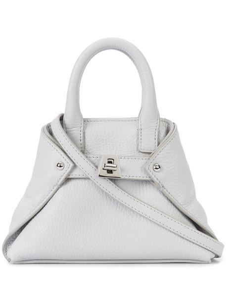 AKRIS cross women bag leather grey