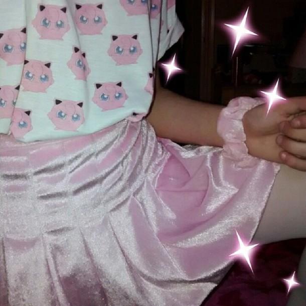 shirt jigglypuff kawaii shirt kawaii pink shirt aesthetic cute top pokemon t-shirt