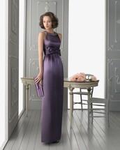 dress,prom dress,maxi dress,evening dress,lilac,bow