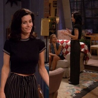 pants friends tv show monica geller 90s style