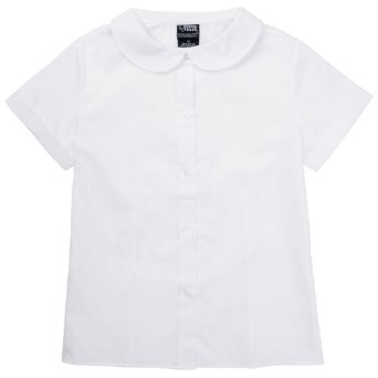 Amazon.com: French Toast Girls School Uniforms Short Sleeve Peter Pan Blouse: Clothing