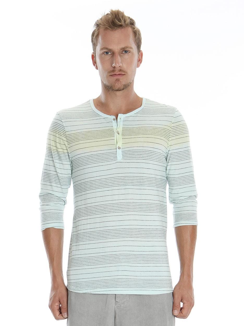 Gypsy05.Com - Official Website :: Shop Men Long Sleeve - Asher Pencil Stripe Crewneck