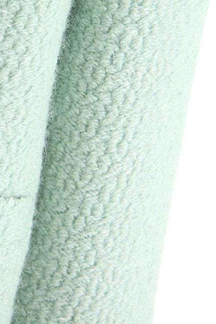 Faux woolen light green coat