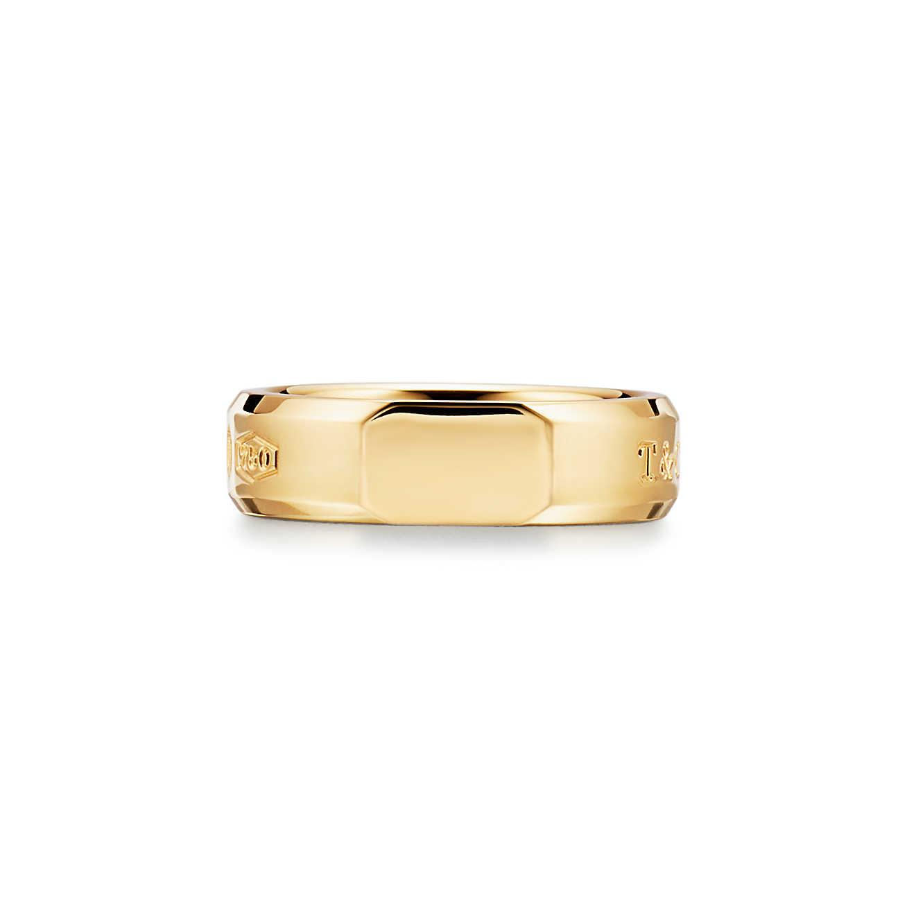 Tiffany 1837® Makers medium slice ring in 18k gold, 6.7 mm wide - Size 6