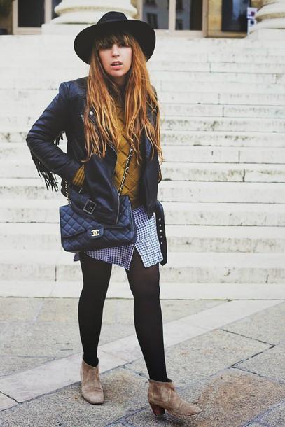 fringe and frange blogger sweater leather jacket fringed jacket