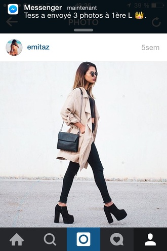 coat winter outfits winter coat black nude nude coat with contrast piping style scrapbook style shoes shoes black grunge flat shoes winter shoes black wedges black shoes girl sunglasses fashion toast fashion vibe fashion is a playground fashion fashion coolture bag black bag streetwear streetstyle