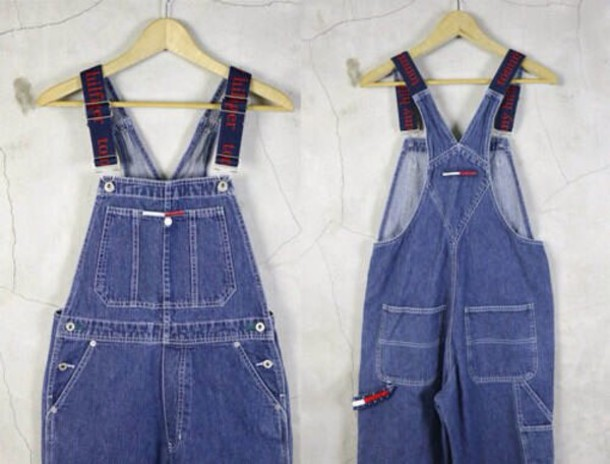 jumpsuit tommy hilfiger jeans swag style