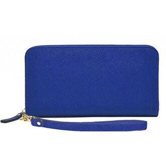 bag electric blue zip blue wallet