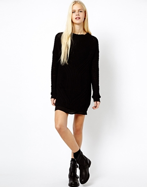 Mango | Mango Oversized Cable Knit Jumper at ASOS