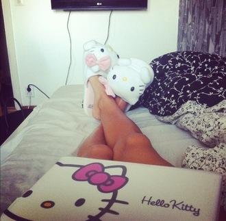 shoes hello kitty slippers pajamas sleep