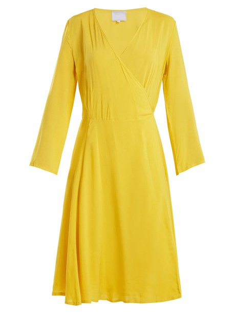 Bower dress wrap dress yellow