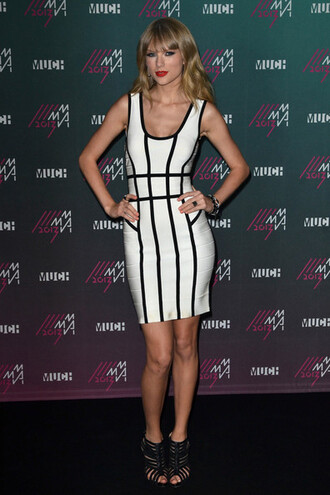 dress taylor swift celebrity style bandage dress party dress summer dress summer outfits monochrome mini dress optical black and white dress
