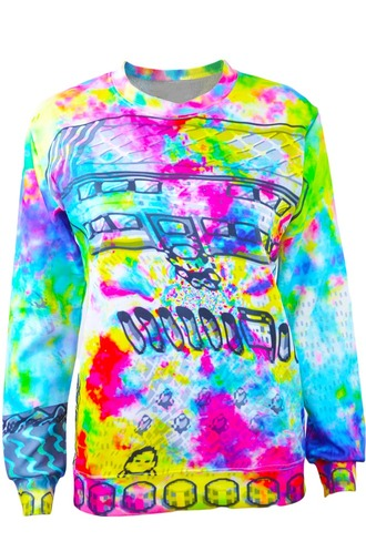 shirt tie dye sweater sweatshirt rainbow rainbow shirt