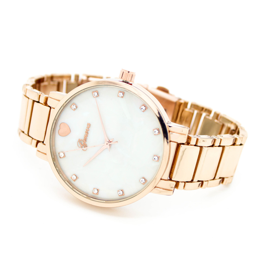 Crystal metal watch