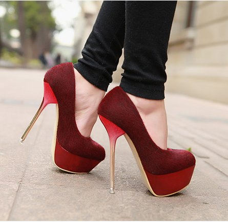 Red High Heel Platform Shoes | Tsaa Heel