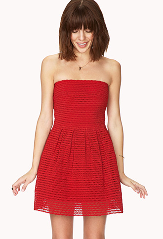 Standout Fit & Flare Dress | FOREVER21 - 2000066478