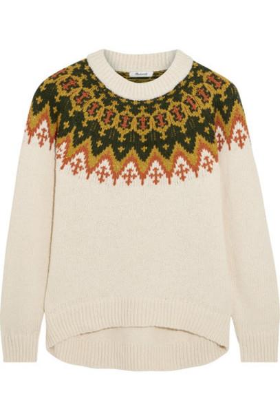 Madewell sweater cotton cream