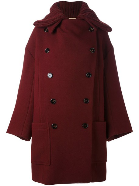Chloe coat oversized coat oversized women silk red