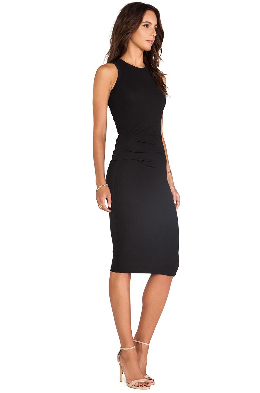 James Perse Skinny Tucked Tank Dress in Black | REVOLVE