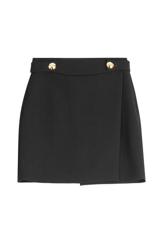 skirt mini skirt mini wool black