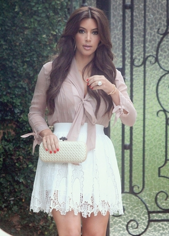 blouse skirt clothes kim kardashian