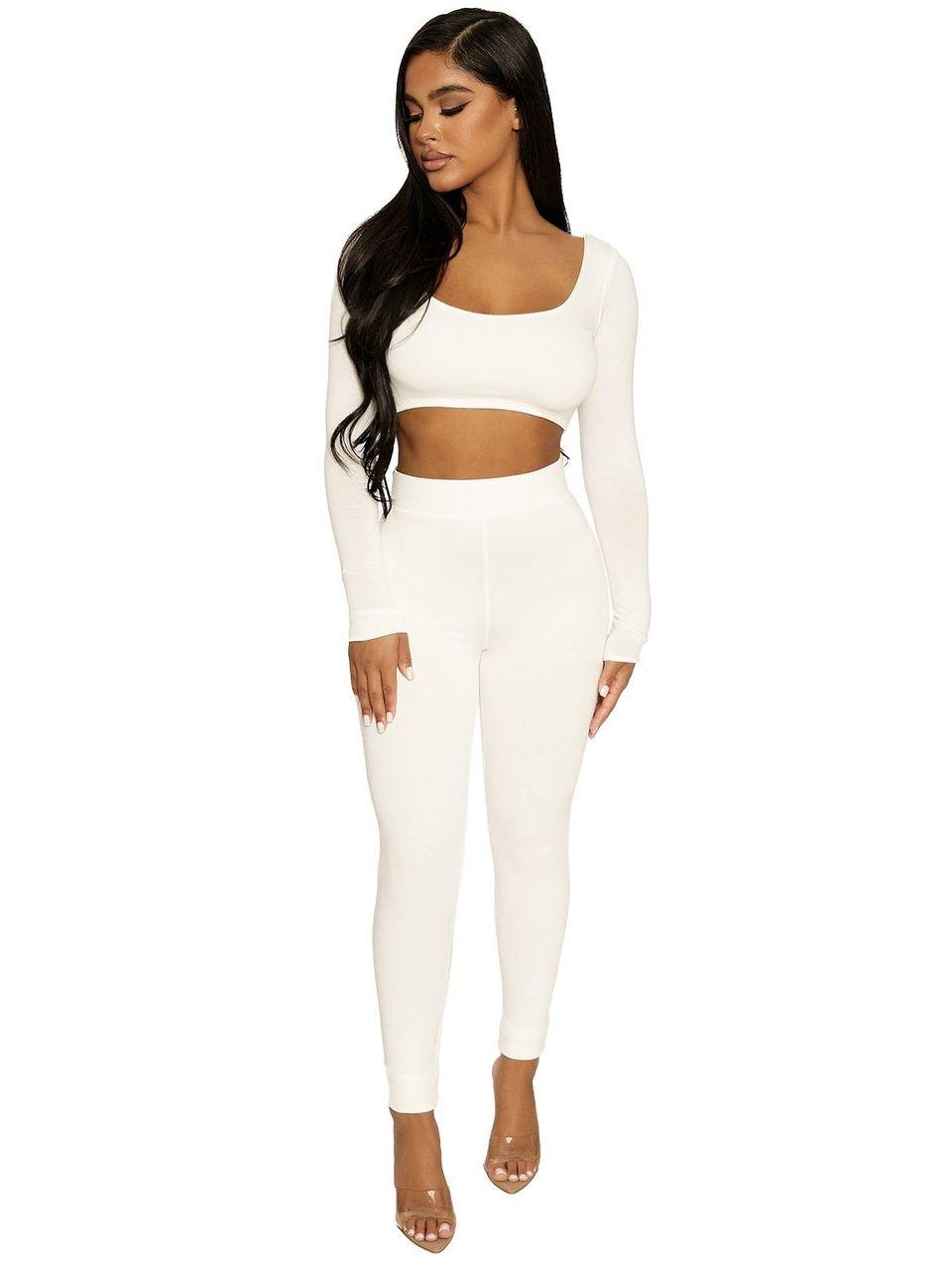 Naked Wardrobe - The NW Sleeveless Jumpsuit (White,One Size)