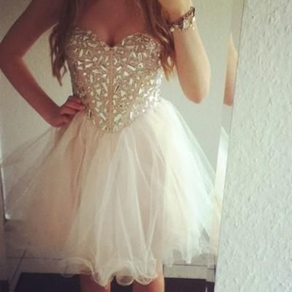 prom dress tulle short prom homecoming dress sequin dress pretty dress cute dress short prom dress sequins