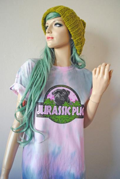 t-shirt jurassic pug