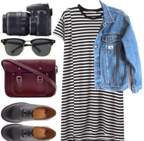 dress black and white kylie jenner stripes