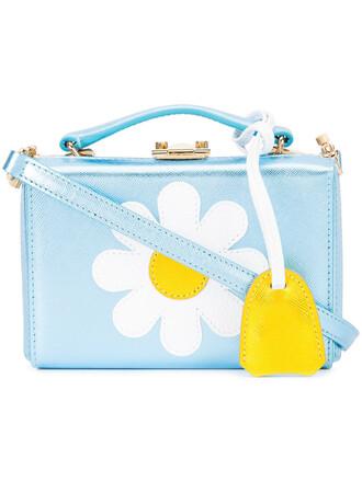 women daisy bag leather blue