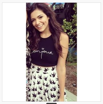 bethany mota dwts top inspired t-shirt