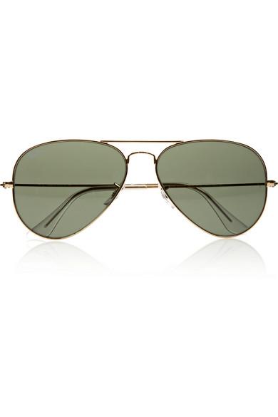 Ray-Ban|Aviator metal sunglasses|NET-A-PORTER.COM