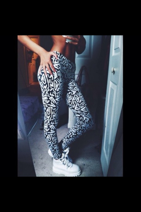 shoes white black white sneakers aztec creepers platform shoes leggings pants