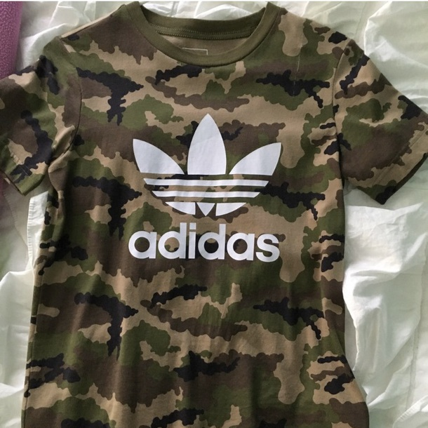 shirt camo adidas originals tee