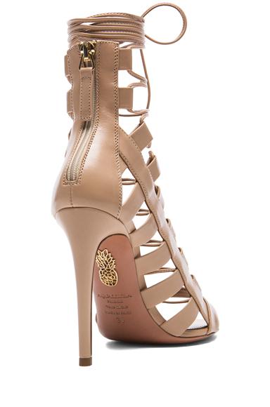 Amazon leather heels in nude