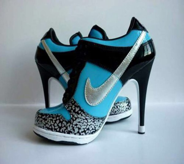 shoes high heels nike girly