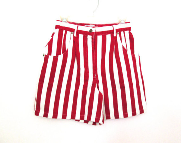 ZARA Red and White Stripe Shorts (Size 6/8) on Wanelo