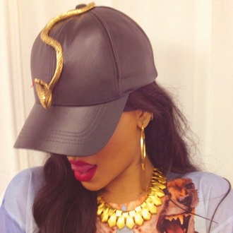 rihanna style cap